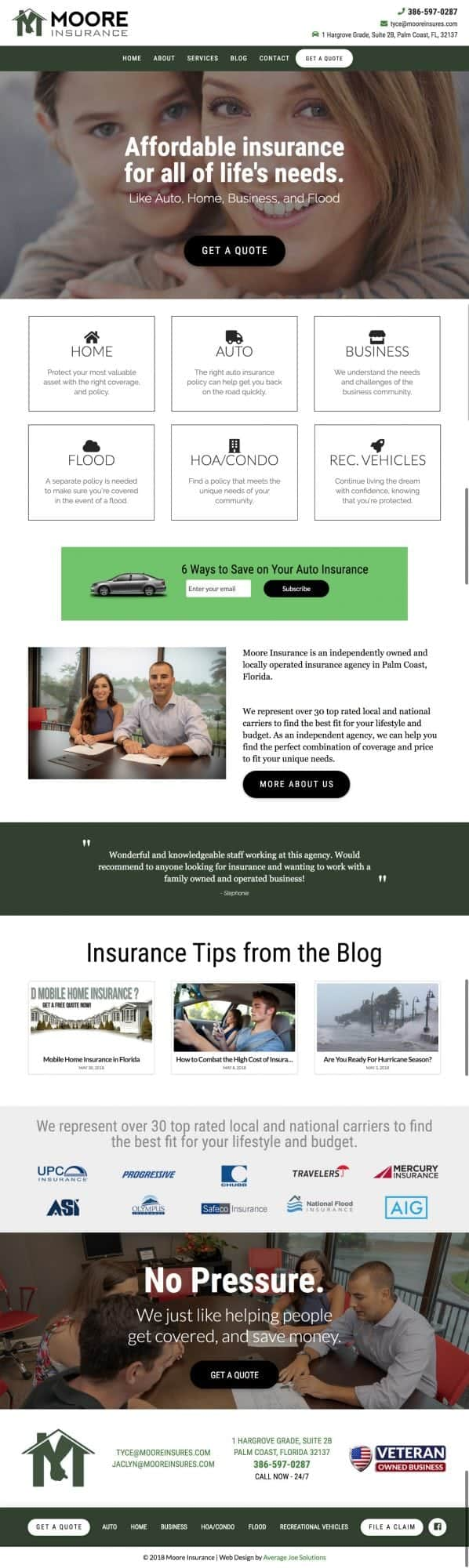 new website for moore insurance