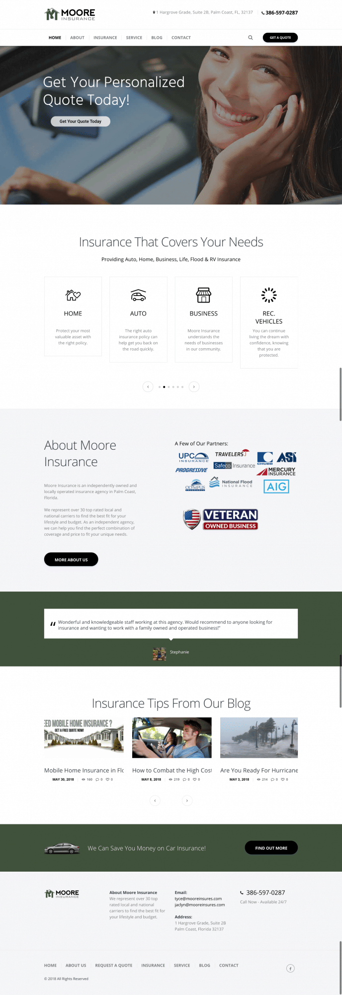 old website for moore insurance